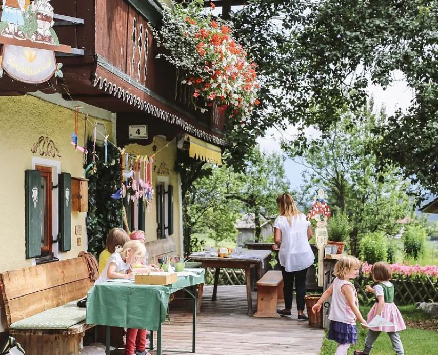 Children's farm at the Stanglwirt