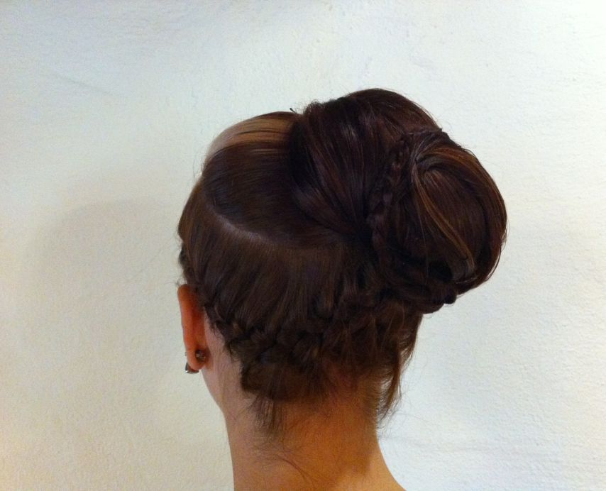 Pinned up hairstyles