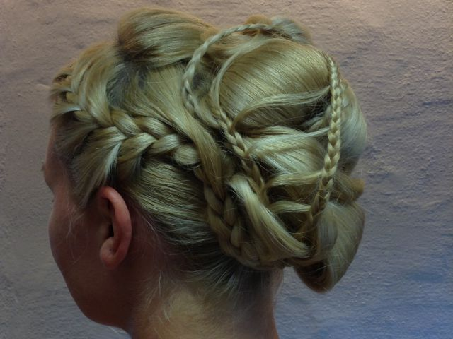 Pinned-up hairstyles
